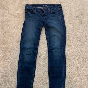 Loft modern skinny ankle jeans